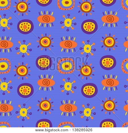 Seamless pattern with a cute ethnic patterns