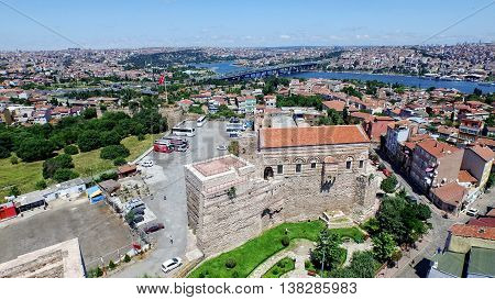 Amazing landscape of Istanbul historical peninsula and mosques