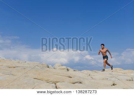 Full young Man muscular man -sport model