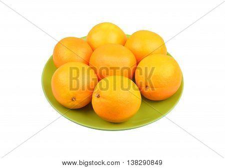 Orange On Plate