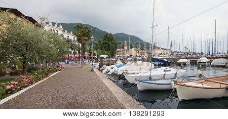 Lakeside Promenade Salo With Moored Sailboats
