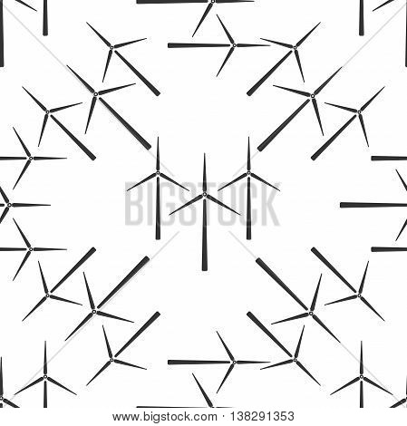 Wind generator icon seamless pattern on white background. Vector Illustration