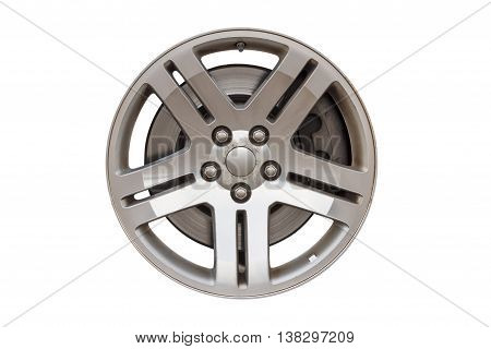 car disc for the wheels isolated on white background