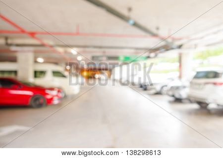 Abstract blur Parking garage