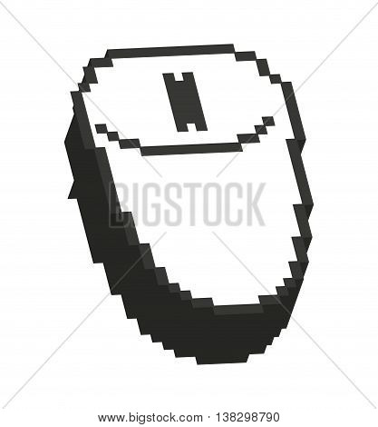 Computer mouse pointer isolated icon design, vector illustration  graphic