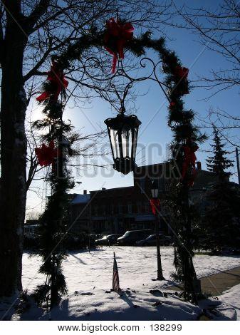 Christmas Trellis Lantern