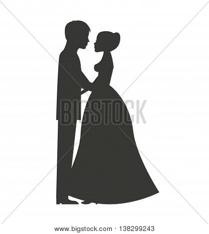 Married couple isolated icon design, vector illustration  graphic