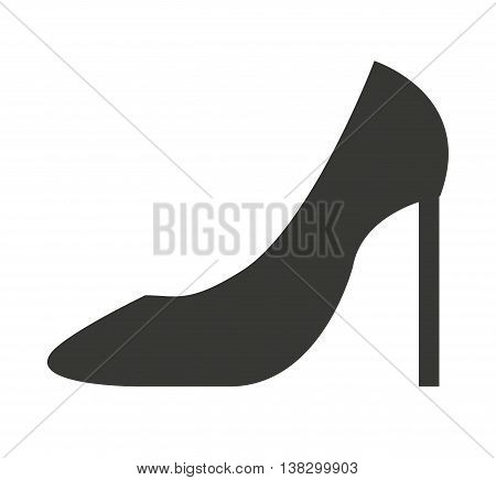 high heel shoes isolated icon design, vector illustration  graphic