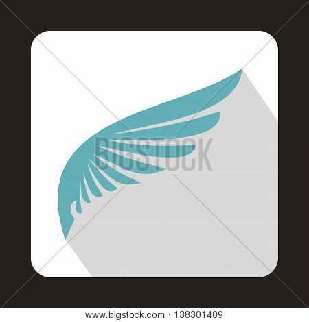 Baby blue wing icon in flat style on a white background