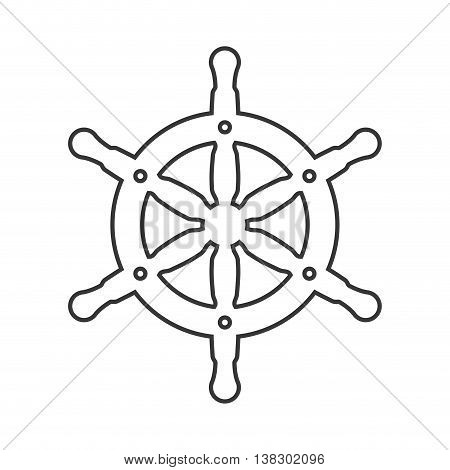 Sea lifestyle concept represented by anchor icon. Isolated and flat illustration