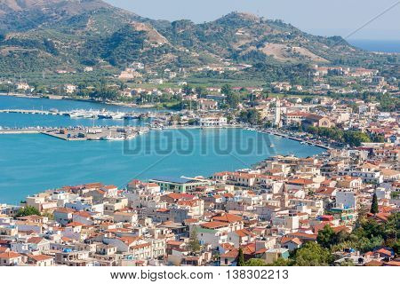 Zakynthos town with harbor, Greece, Ionian Island
