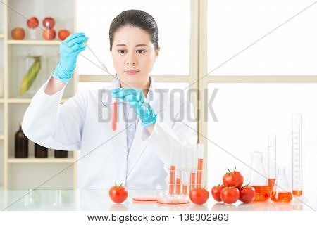 Asian Female Scientist Drop To Do Genetic Modification Research