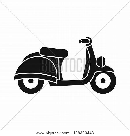 Motorbike icon in simple style isolated vector illustration