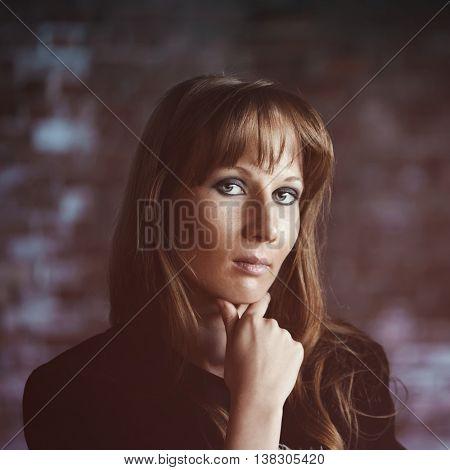 Portrait of sad woman