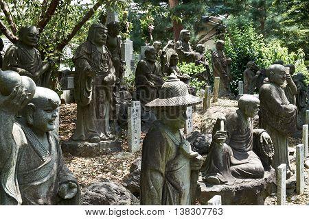 Statues at tenryu-ji temple - arashiyama, Kyoto, Japan