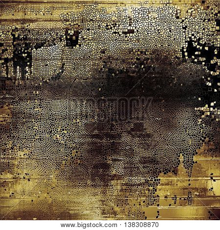 Abstract grunge background or damaged vintage texture. With different color patterns: yellow (beige); brown; gray; black