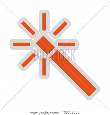 image editing wand isolated icon design, vector illustration  graphic