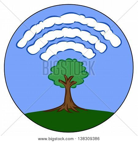 trees distribute oxygen in the air, not Wi fi