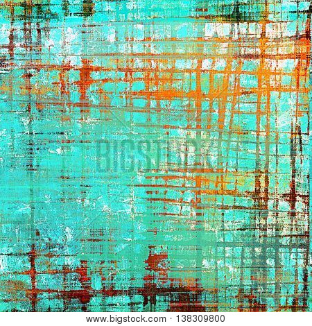 Grunge abstract textured background, aged backdrop with different color patterns: green; blue; cyan; red (orange)