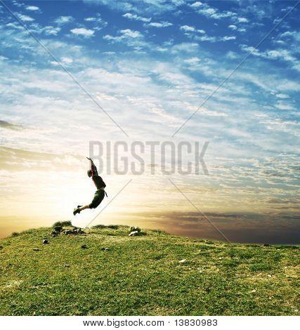 chica de salto