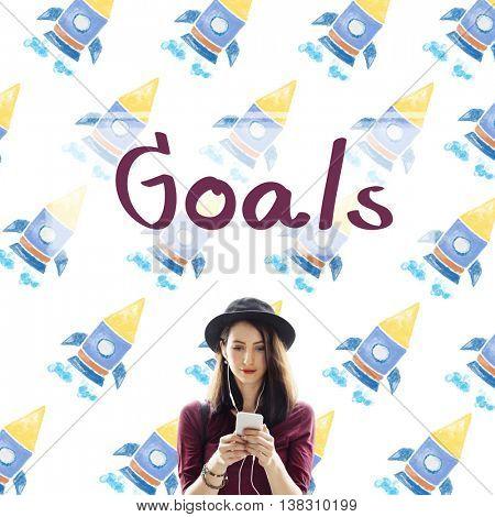 Goals Aim Aspiration Dreams Inspiration Target Concept