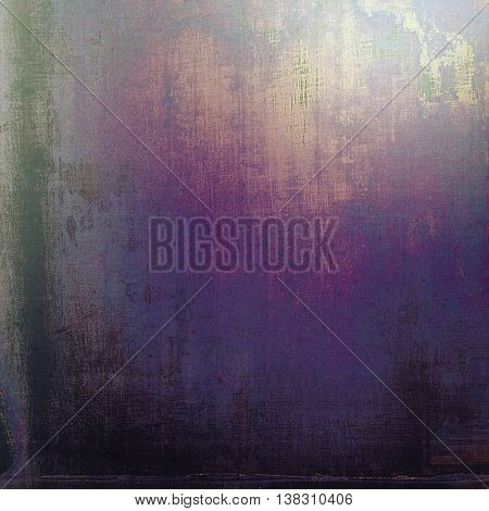 Grunge old texture used as abstract vintage style background. With different color patterns: brown; black; blue; purple (violet); pink