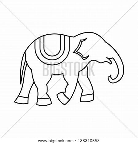 Elephant icon in outline style isolated vector illustration