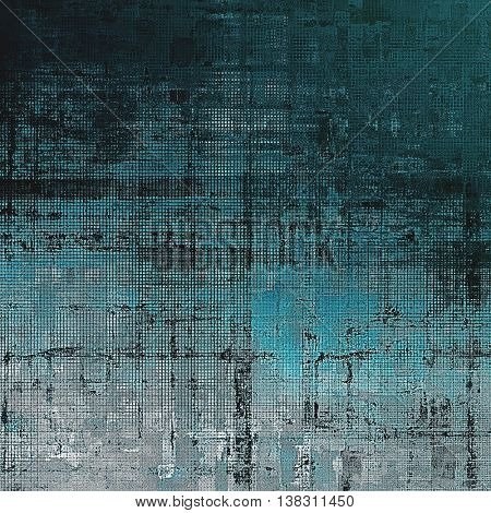 Old style design, textured grunge background with different color patterns: gray; black; blue; cyan