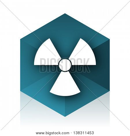 radiation blue cube icon, modern design web element