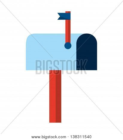 mail box isolated icon design, vector illustration  graphic