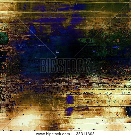 Retro abstract background, vintage grunge texture with different color patterns: yellow (beige); brown; gray; black; green; blue