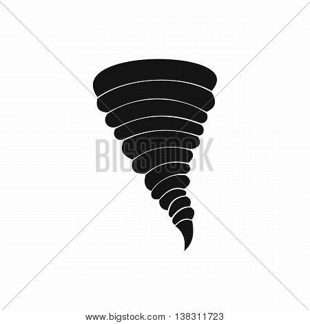 Tornado icon in simple style isolated vector illustration