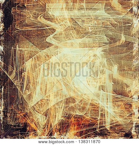 Abstract grunge background or aged texture. Old school backdrop with vintage feeling and different color patterns: yellow (beige); brown; black; red (orange); purple (violet); white