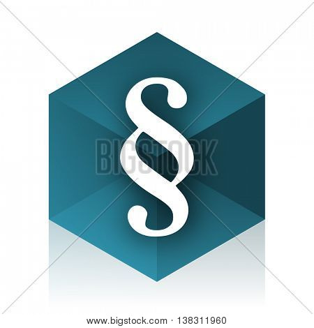 paragraph blue cube icon, modern design web element