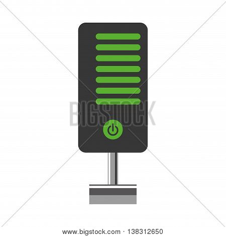 Data base concept represented by Web hosting icon. Isolated and flat illustration.
