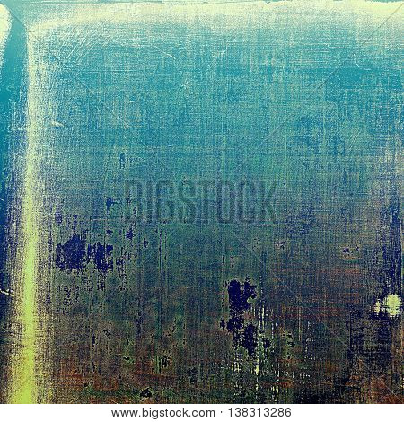 Grunge texture, aged or old style background with retro design elements and different color patterns: yellow (beige); brown; gray; green; blue; cyan