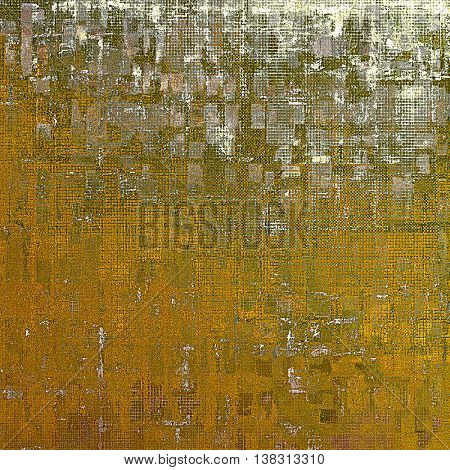 Weathered grunge elements on vintage texture for your design. Aged background with different color patterns: yellow (beige); brown; gray; green; white