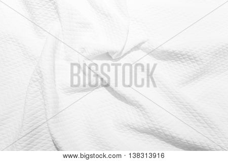 White Cotton Fabric Texture, Background Photo