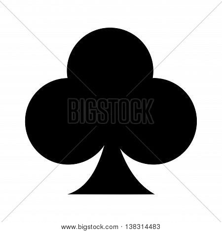 ace of clover isolated icon design, vector illustration  graphic