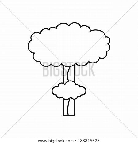 Nuclear explosion icon in outline style isolated vector illustration