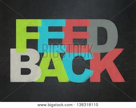 Business concept: Painted multicolor text Feedback on School board background, School Board