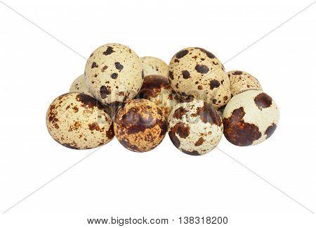 Quail Eggs On White