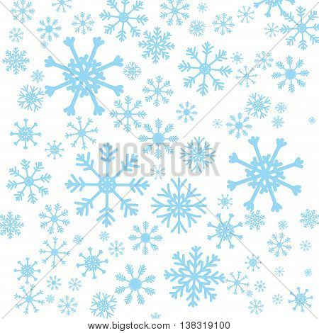 Winter concept represented by Snowflake background icon. Isolated and flat illustration