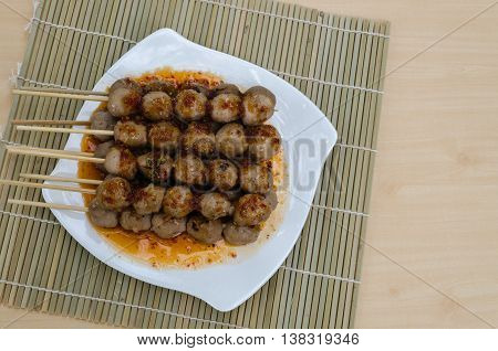 Grilled Beef Meatballs