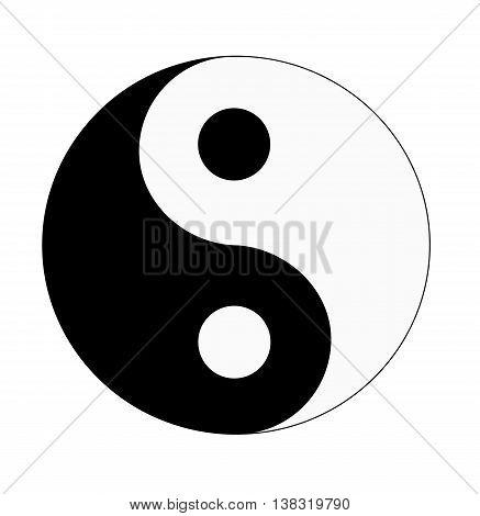 Yin & Yang - vector illustration. Yang symbol.