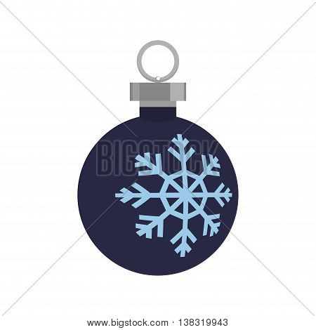Merry Christmas concept represented by snowflake inside sphere icon. Isolated and flat illustration