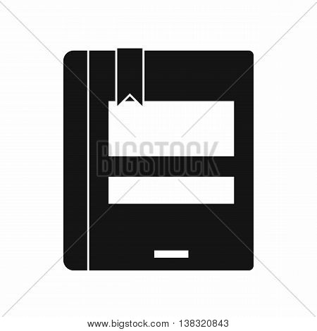 Closed book icon in simple style isolated vector illustration