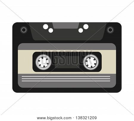 cassette tape isolated icon design, vector illustration  graphic