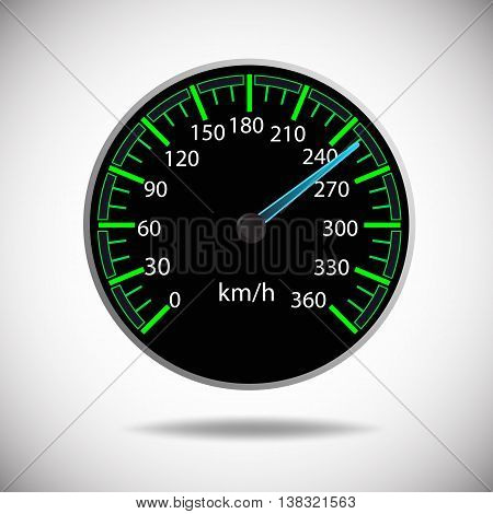 Fast and Speed logo template vector background with speedometer