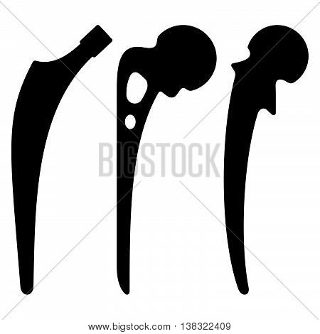 Set of three hip prosthesis ( shade pictures )